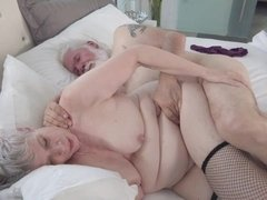 Grandpa nicely pounds a passionate granny in the sideways pose