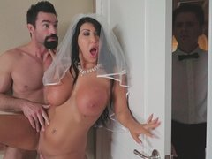 Slutty bride August Taylor cheats her fiance on wedding day