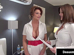 Smoking cougars Deauxma & Taylor Ann tear up Patient For Money!