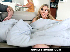 FamilyStrokes - mischievous Stepsis Gets Caught Being porked