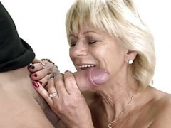 Penis adoring granny screwed hard before tasting warm cock juice