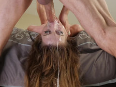 Ginger sweetie Zoe Sparx gags and chokes on a raging boner POV