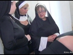 Nun Themed 4 Girl Fun With Bosomy Kim An - nun