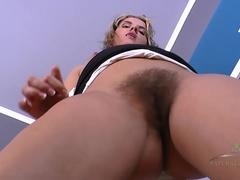 Regina teases with her full bush