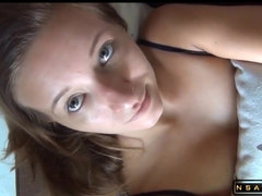 Amateur babe tries anal sex for the first time