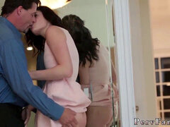 first-timer teen gasping and surprise assfuck Risky Birthday Capers With