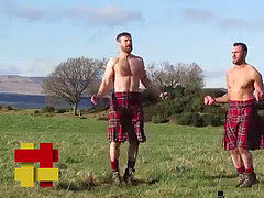 Cardio P.I.S.S. style exercise. With the Kilted Coaches. In public..!