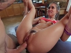 Riley Reid does a deepthroat bj then fucks for a mouthful of nutt