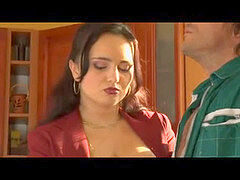 huge-titted brunette German Mature drilled By Plumber