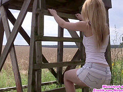 Deutsches Outdoor amateur nubile Usertreffen mit schlanker blondine