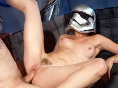 Lily LaBeau wearing the helmet gets pussy pounded