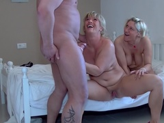 German naughty threesome fucking and sucking