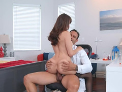 Gorgeous Girl And A Dirty Doctor Fucking In Bed