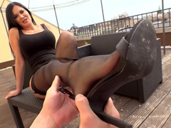 Cum On Brit Babe's Feet: A Foot Fetish POV Adventure in 4K