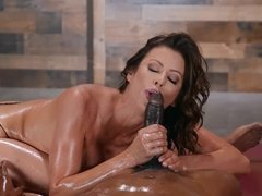 Chesty milf Alexis Fawx oil-drenched fucking