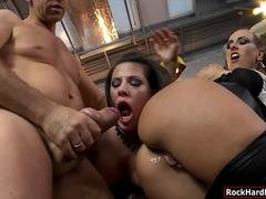 Mea Melone n Athina ass to mouth action with Rocco Siffredi