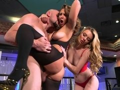 Hardcore interview fucking with the hot stripper Layla London in the club