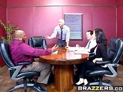 Big Breasts at Work - Nicole Aniston Johnny Sins - A