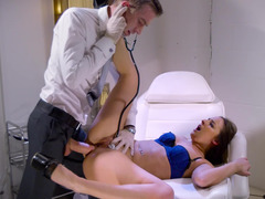 A girl that is into anal is getting fucked by the doctor