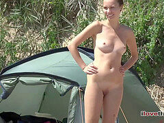 delectable random gals on the nudist beach sunbathing (NudeBeach bb15037-15