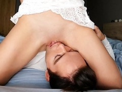 HOT! Licking stepsister's twat, close-up and additionally ANALINGUS! 4k.