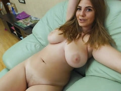 Big Natural Boobs on this Beautiful College Whore - young busty student masturbating solo