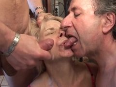 French Housewife Catches Her Hubby Sucking Gay Dick