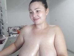 Sexy soccer mom with lovely natural titties