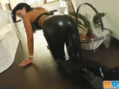 Pure Pov Leather loving chick gets pounded hard