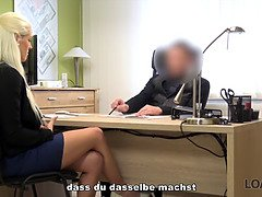 Loan4k. scanty and magnificent supermarket secretary has wild sex