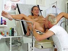 giant globes Tracy Loves gyno exam,oral sex and smashed