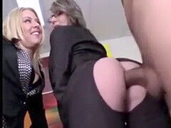 gang anal hook-up in the office