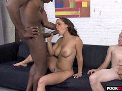 Horny HotWife Liza del Sierra Gets banged By big black cock In Front Of Her Cuckoer cuckold