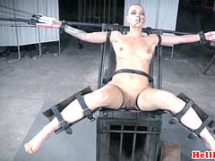 tattooed trimmed slave with pierced cunt