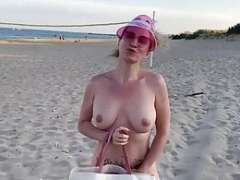SexChallenge 2019 Solo play and furthermore Bukkake to the beach 3