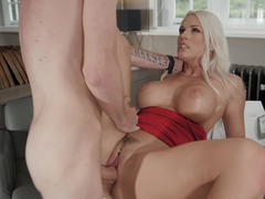 Blanche Bradburry is ready for a huge cock in her pussy