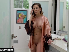 Hot raunchy mommy with fit body interracial porn video