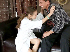 Stepdaughter luvs huge jizz-shotgun of her uncle
