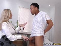 Cougar Doctor With Huge Juicy Melons Cures Black Cock