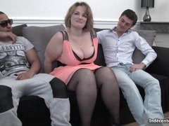 supersized big beautiful women lady takes two cocks