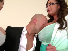 Big Titty Threesome in the Office