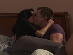 Milf and her hubby have great sex in a hotel bed
