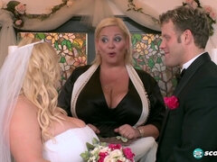 Samantha 38G - My Big Plump Wedding: Part 4 - blonde bride with monster boobs