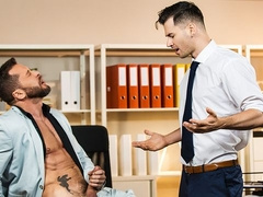 Office anal scene with Lukas Daken and Tyler Berg