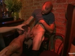 Handsome gay gets his ass explored and fucked by his friends