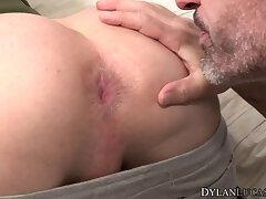 Mature gay rimms tattooed youngster and anal fucks him