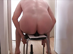 Slave boy gets his ass fucked with a new huge 20cm dildo