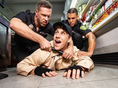 Shoplifter Paul Canon fucked by officer Alex Mecum