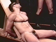 hard-core Muscle cub corded up and used (rough sex)