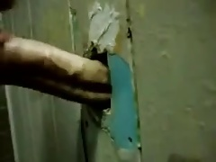 Gloryhole straight cock sucking